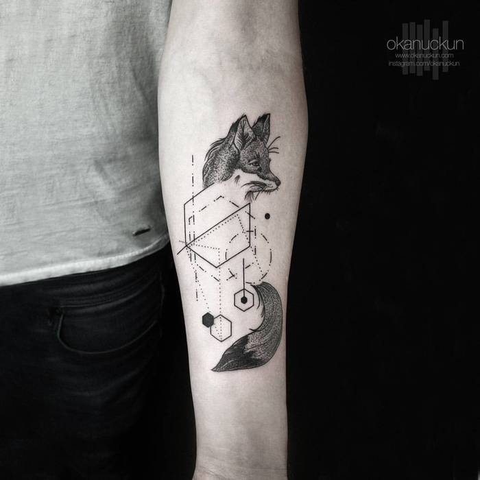 Minimalist Geometric Tattoos by Okan Uckun