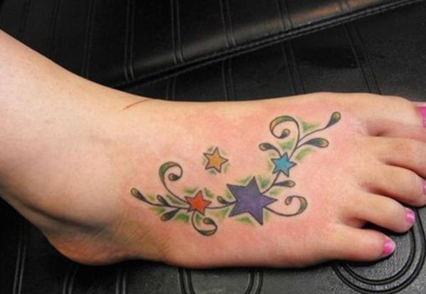 Colourful Stars Tattoo 10
