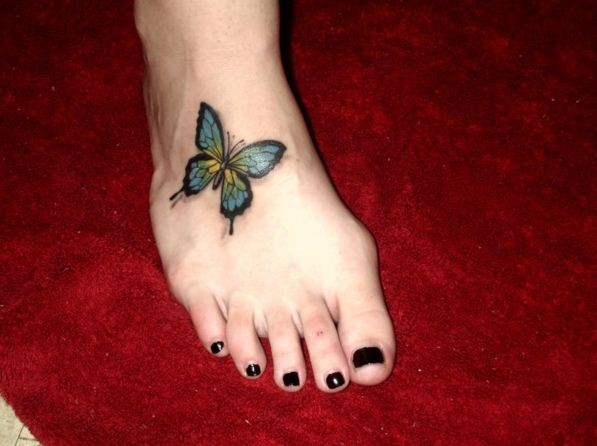 Colourful Butterfly Tattoo 12
