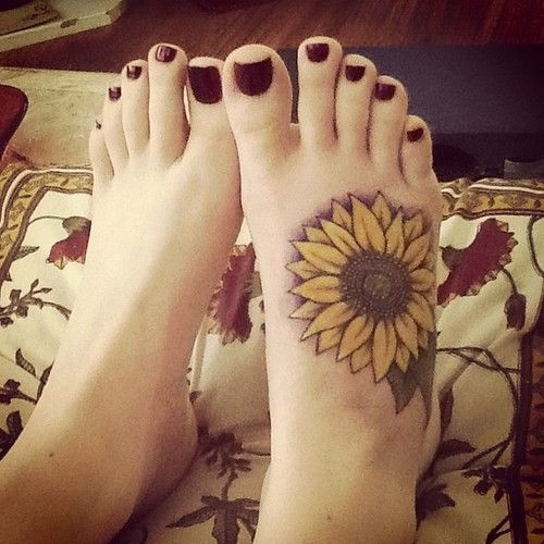 sunflower tattoo 10