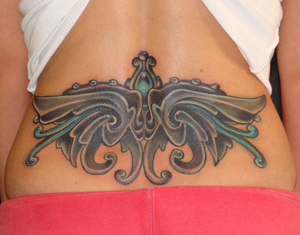 Tattoo Cover Up Lower Back 9 Dot Studio Tattoos Coverup Lower Back, Cover Upjewel