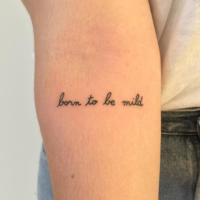 Minimalist Typography Tattoos by Paris Tattoo Club