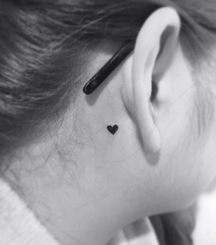 Cute And Minimalist Heart Tattoo By Playground Tattoo