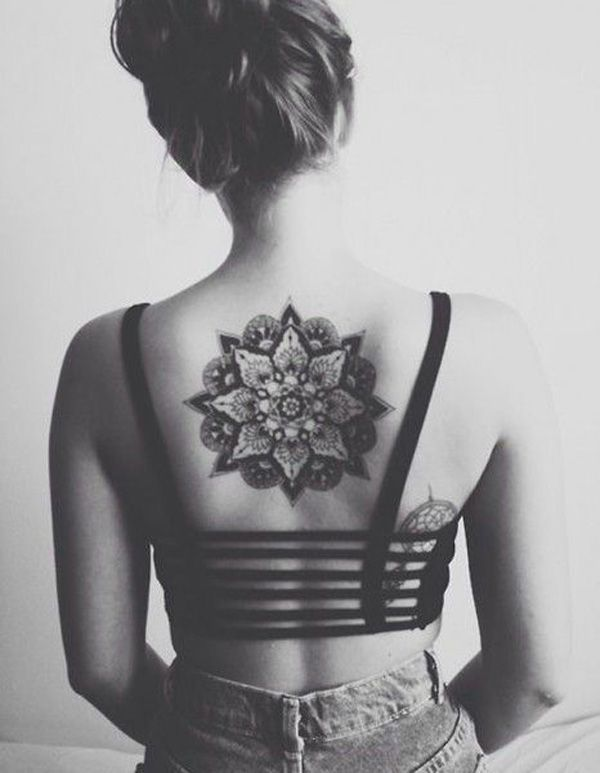 Nice One More Mandala Back Tattoo Of Lovely Flower
