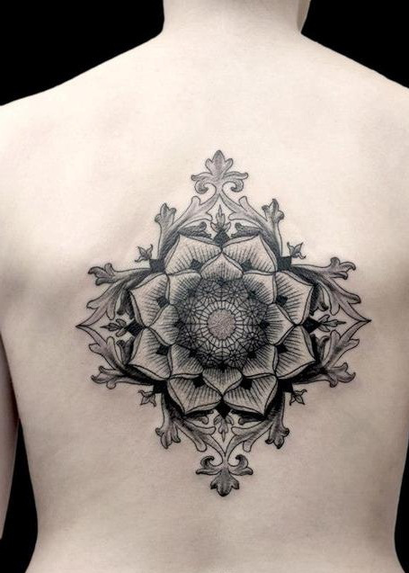 Beautiful Another Best Mandala Tattoo Design For Back
