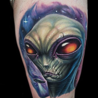 Aliens Tattoo Designs for men