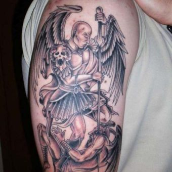 angel tattoos upper arm