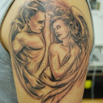 tattoo angel vs demon