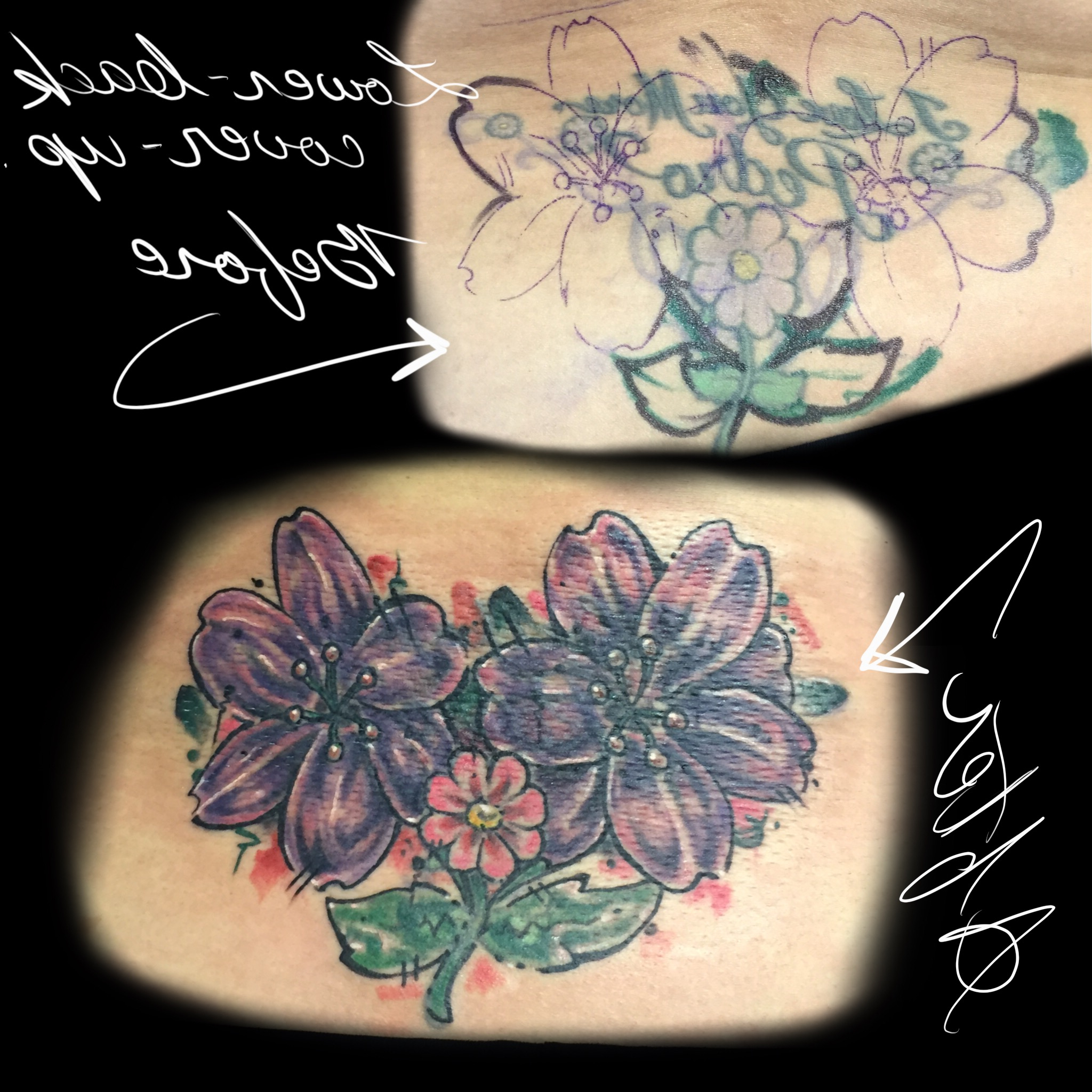 Tattoo Cover Up Lower Back Lower Back Cover-Up Tattoo – Michael Medina Art