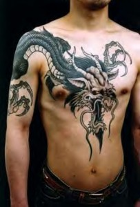 Large Scale Japanese Dragon Tattoos
